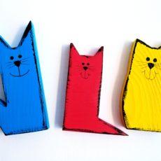 álló cica figurák