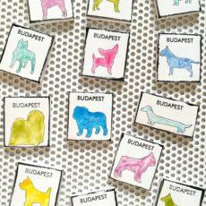 Budapest kutyái mágnes