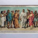 antik nyomat ókori viselet