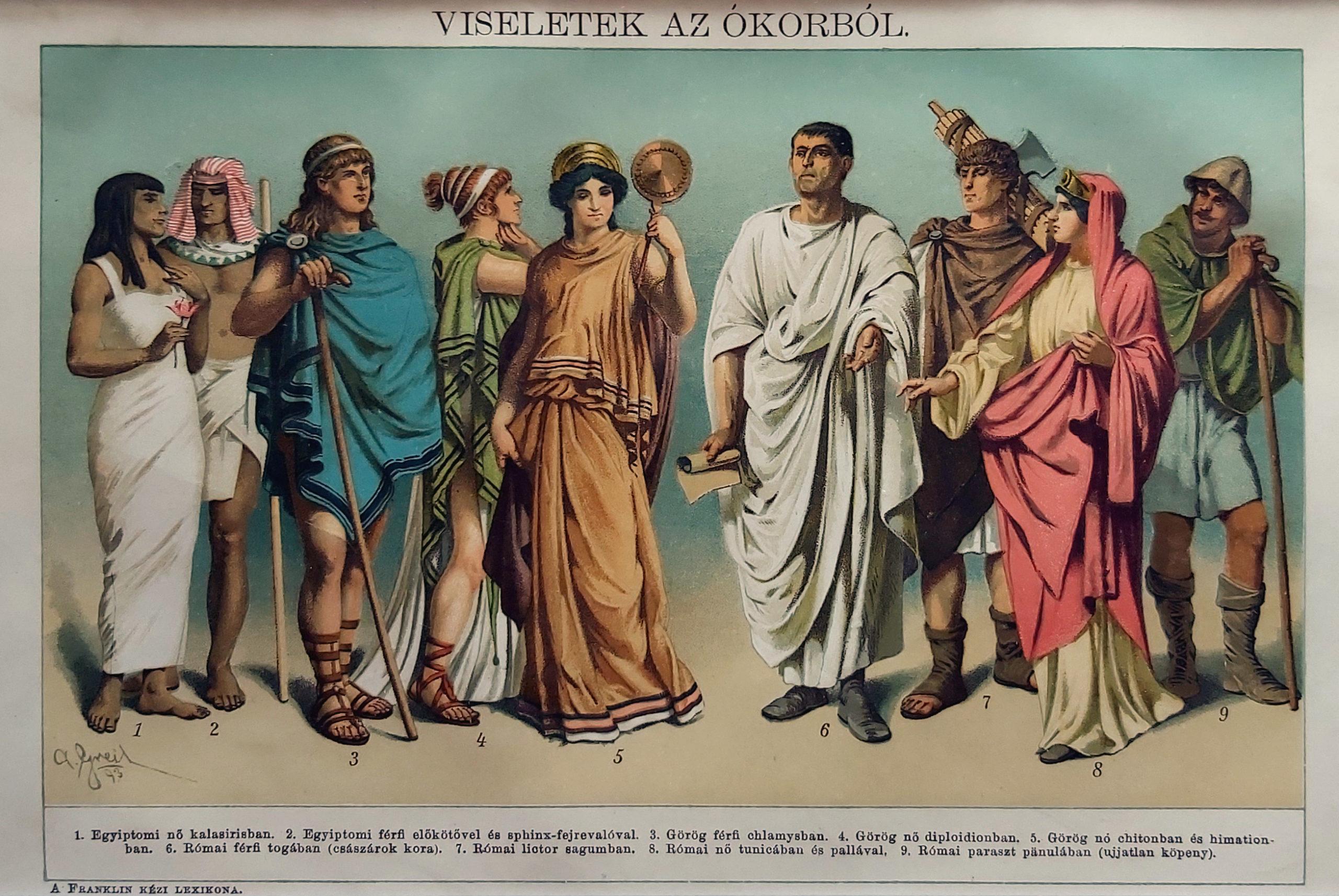 ókori viseletek eredeti nyomat