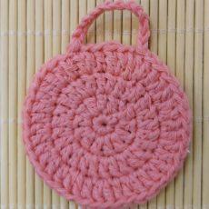 horgolt arctisztító korong rózsaszín
