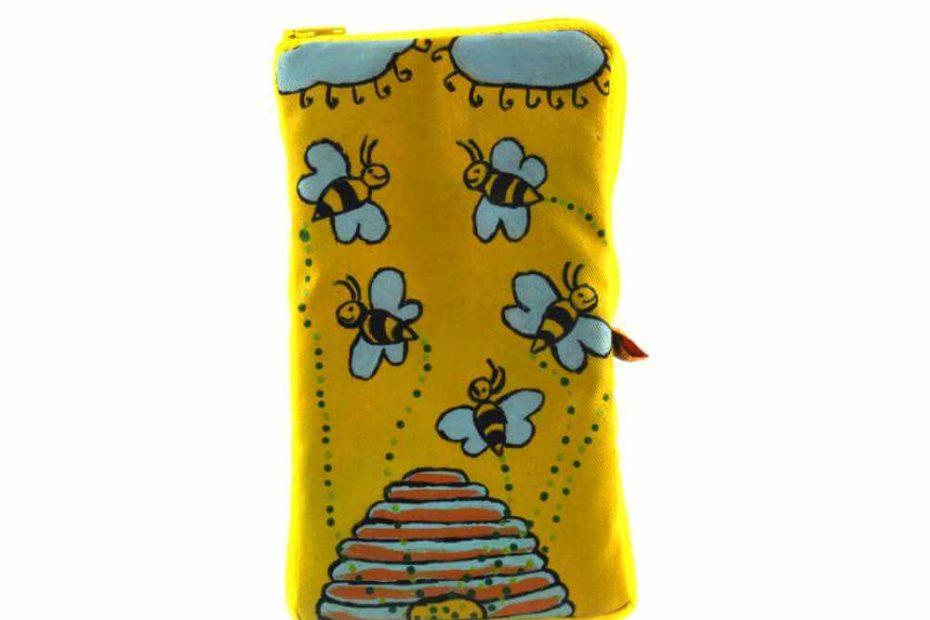 Szuno festett méhecskés telefontartó
