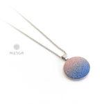 antikrózsaszín-kék 20 mm nyaklánc