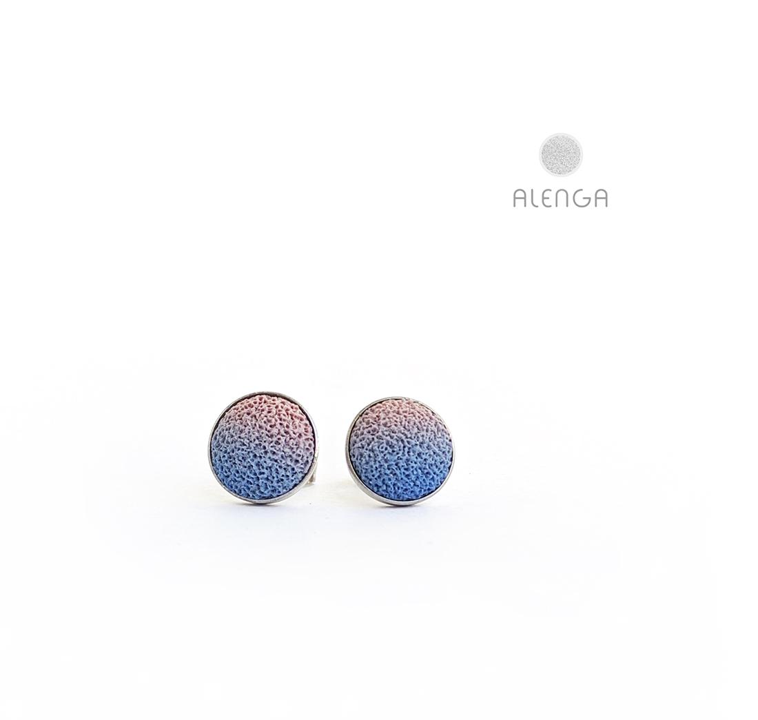antikrózsaszín-kék bedugós fülbevaló