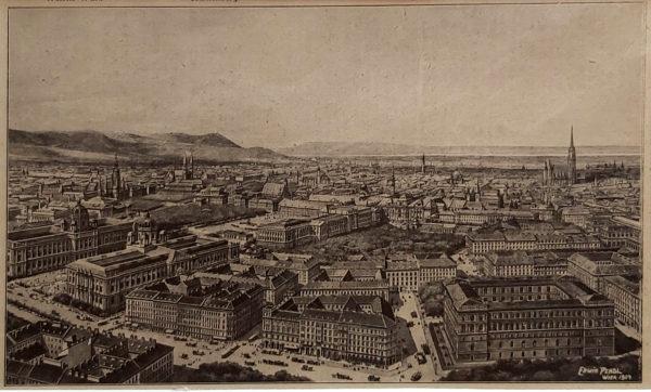 antik város nyomat Bécs