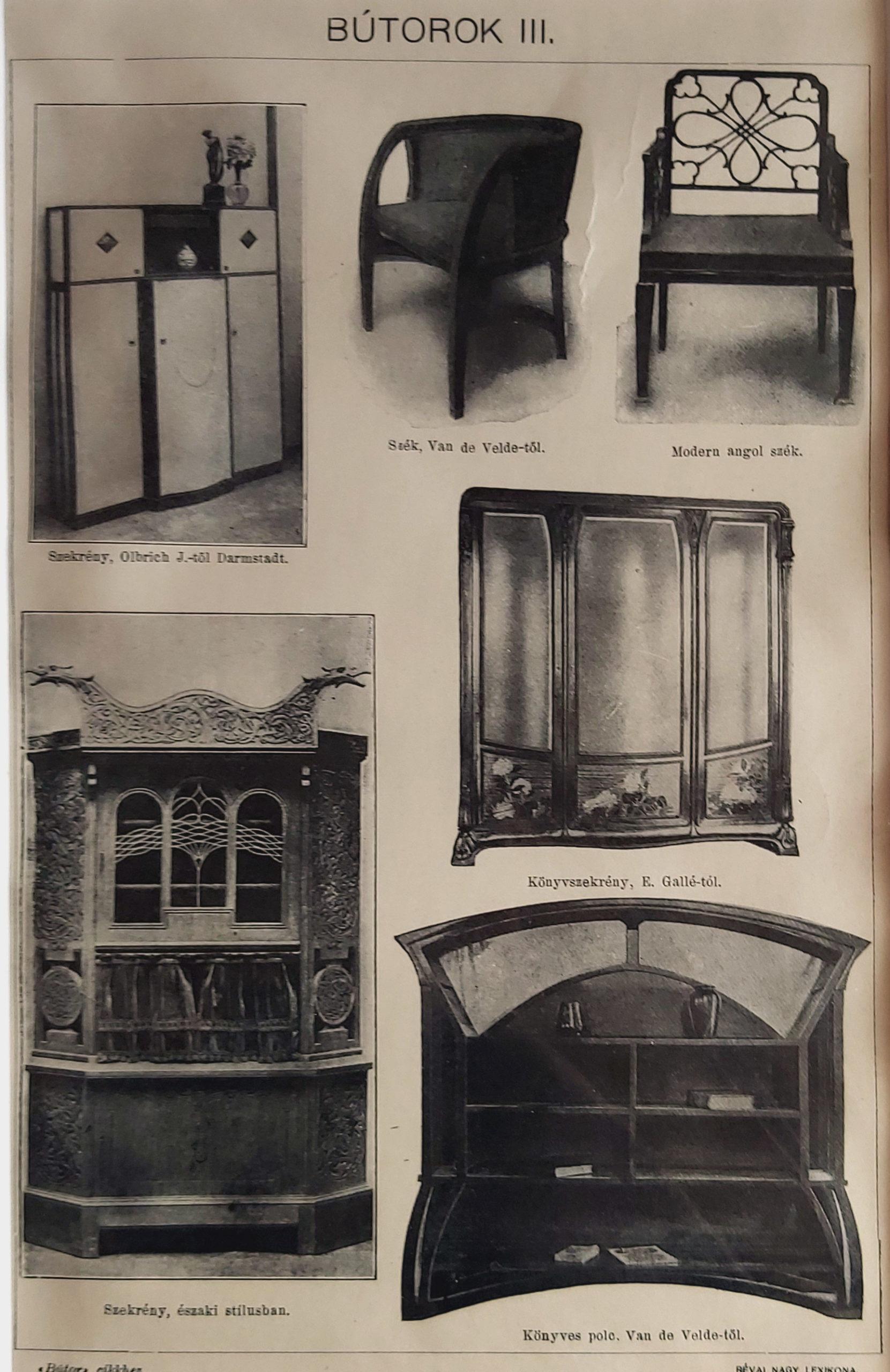 antik nyomat bútor