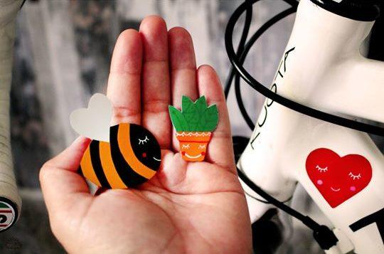 Méh, répa, szív fényvisszaverő