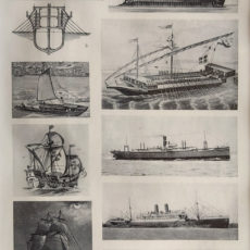 antik nyomat hajózás