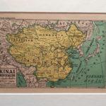 térkép nyomat kína