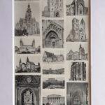 antik város nyomat magyar építészet
