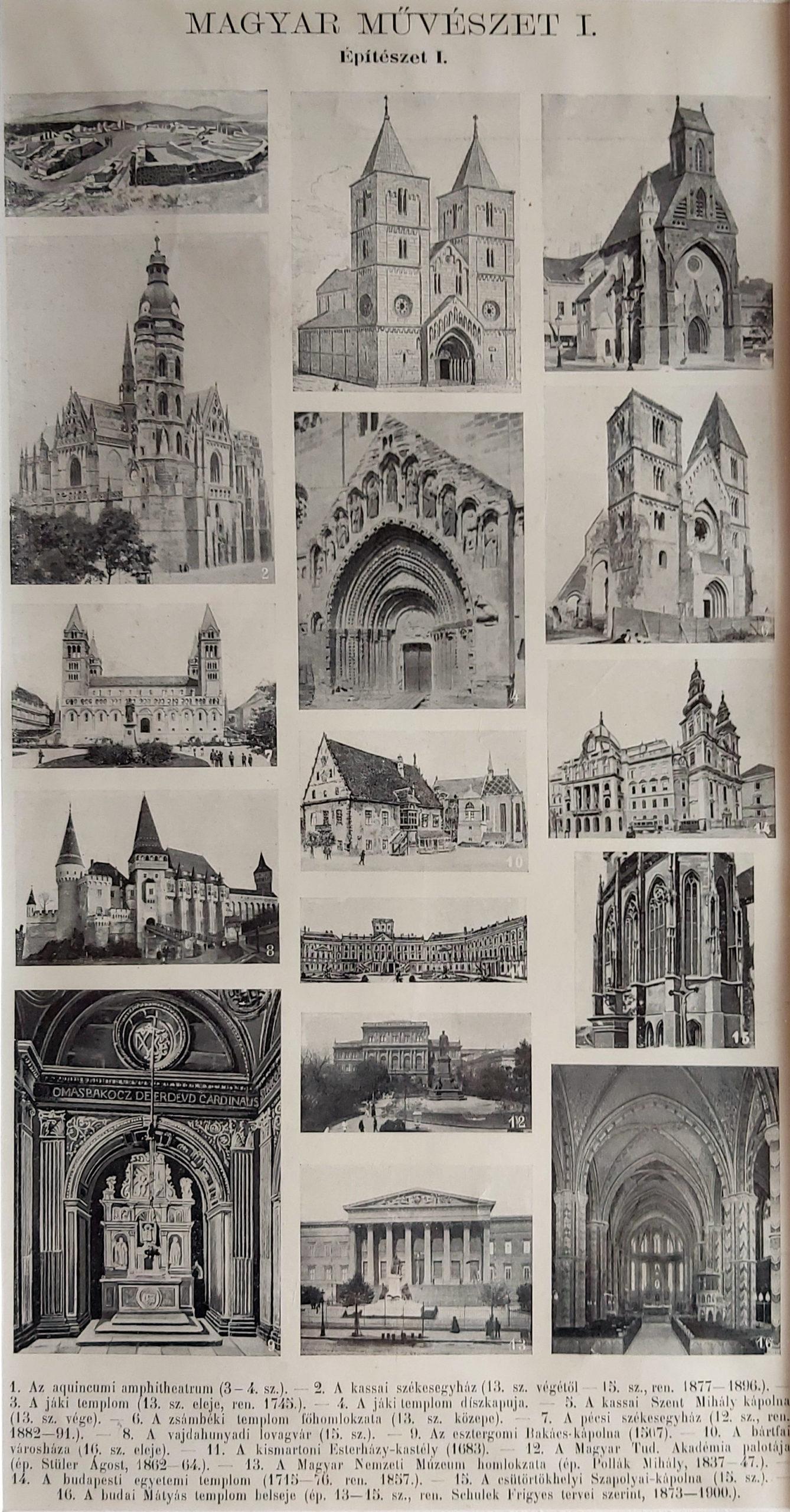 antik nyomat magyar építészet