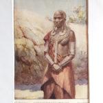 antik nyomat maszáj nő