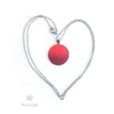 Piros-bordó Alenga nyaklánc 20 mm