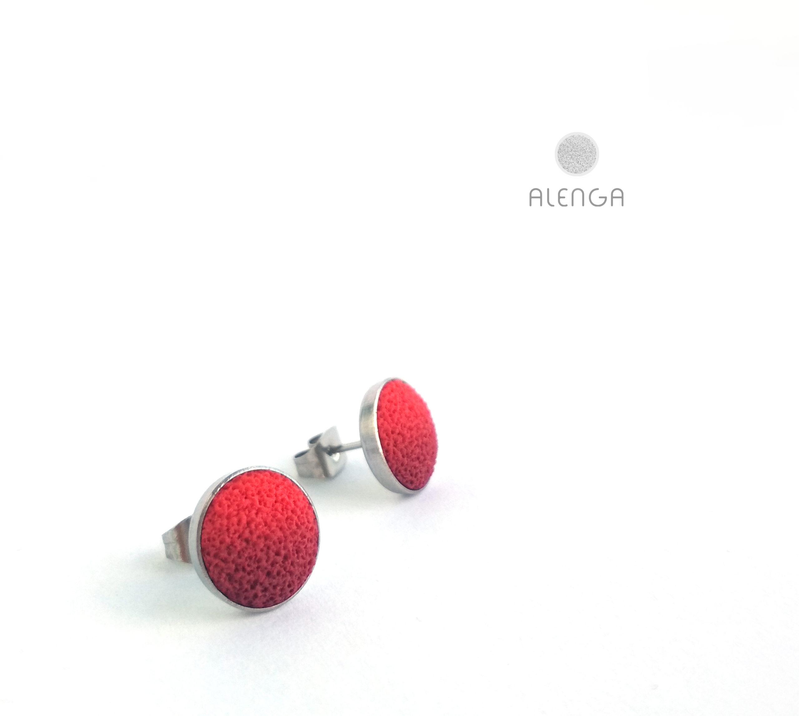 Alenga piros-bordó bedugós fülbevaló