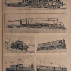 antik nyomat mozdony