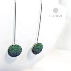 Alenga zöld-sötétkék lógós fülbevaló