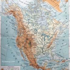 észak-amerika domborzati térkép eredeti nyomat
