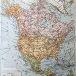 eredeti antik észak-amerika politikai térkép nyomat