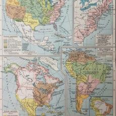 amerika térkép történeti fejlődés eredeti antik nyomat
