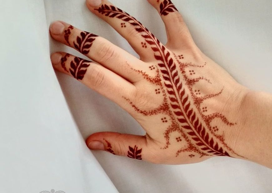 bebarnulás utáni hennafestés