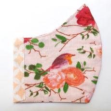 madár rózsa barack női maszk