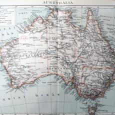 Ausztrália térkép nyomat