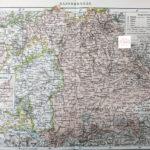 Bajorország térkép eredeti nyomat