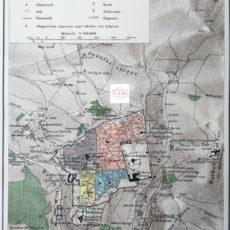 Jeruzsálem térkép nyomat