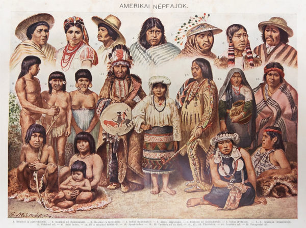 amerikai őslakosok eredeti nyomat