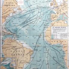 atlanti-óceán térkép eredeti nyomat