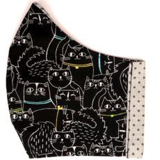fekete macska textil maszk