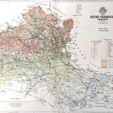 vármegye heves térkép nyomat 1895