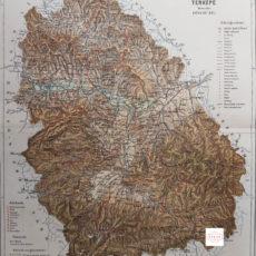 vármegye hunyad térkép nyomat 1895