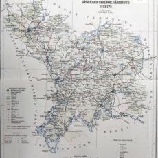 Jász-Nagykun-Szolnok vármegye eredeti térkép nyomat