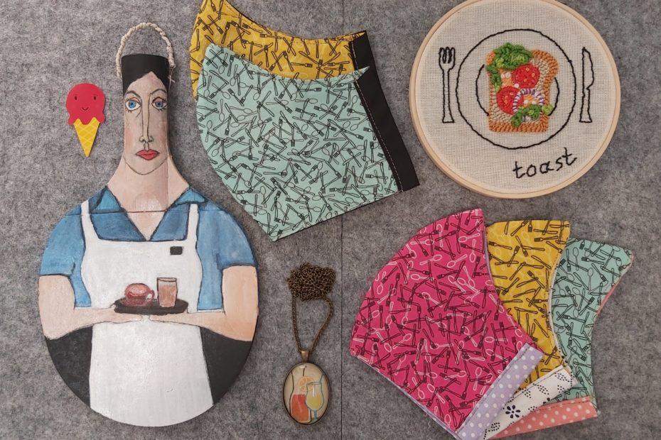 textil maszk designer anyagokból vállalkozásoknak