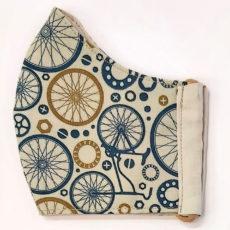 bicikli kék maszk