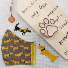 kutya sárga maszk