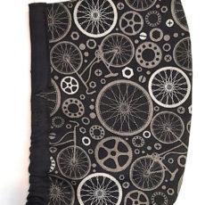 bicikli fekete textil maszk szakállasoknak