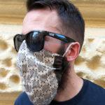 szakállas maszk oldalról