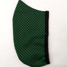 Zöld kockás hipszter textil maszk