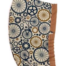bicikli kék textil maszk szakállasoknak