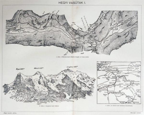 Hegyi vasutak 1 eredeti nyomat 1911