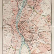 Budapest közlekedése térkép eredeti nyomat 1911
