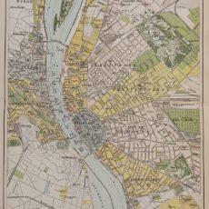 Budapest térkép eredeti nyomat