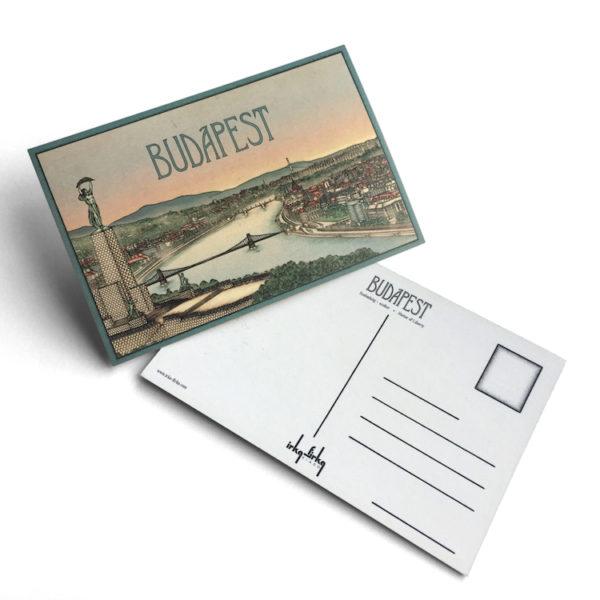 Budapest tematikájú képeslap látkép