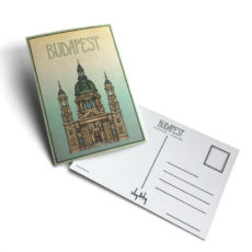 Budapest tematikájú képeslap Bazilika