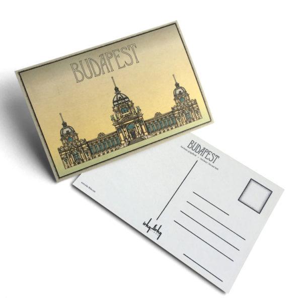 Budapest tematikájú képeslap Széchenyi fürdő