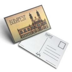Budapest tematikájú képeslap Zsinagóga