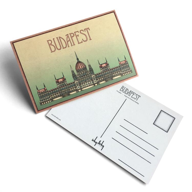 Budapest tematikájú képeslap Parlament
