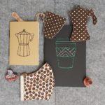 Hímzett jegyzetfüzet latte 2 noteszek és kiegészítők